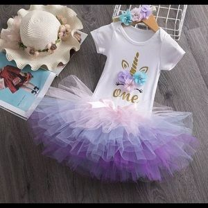 Other - Unicorn 1 year brand new outfit 3 pieces